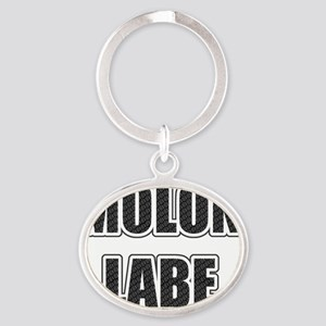 Molon Labe - Carbon Oval Keychain