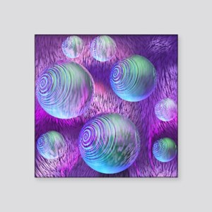 """Inner Flow II Abstract Purp Square Sticker 3"""" x 3"""""""