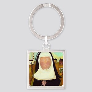 Nuns Stairway to Heaven Square Keychain