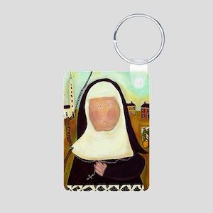Nuns Stairway to Heaven Aluminum Photo Keychain