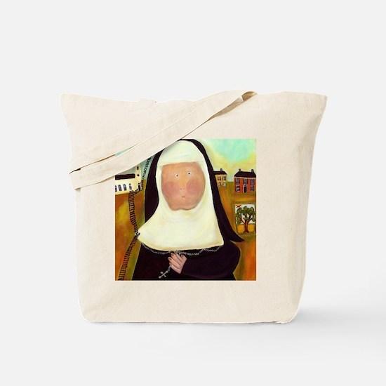 Nuns Stairway to Heaven Tote Bag