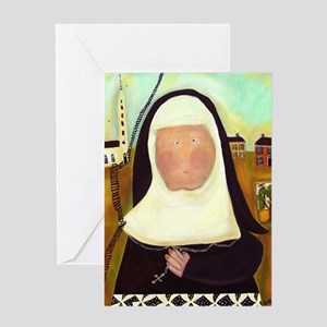 Funny nuns greeting cards cafepress nuns stairway to heaven greeting card m4hsunfo