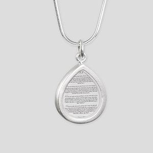 Graduation Key To The Fu Silver Teardrop Necklace