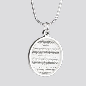 Graduation Key To The Future Silver Round Necklace
