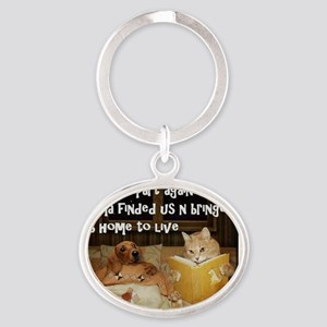Adopt A Pet Oval Keychain