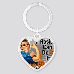 D If Rosie Can Do It Multiple Scler Heart Keychain