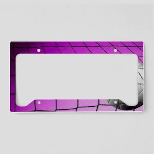 Purple Volleyball Net License Plate Holder
