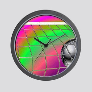Rainbow Volleyball  Net Wall Clock