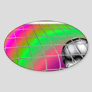 Rainbow Volleyball  Net Sticker (Oval)