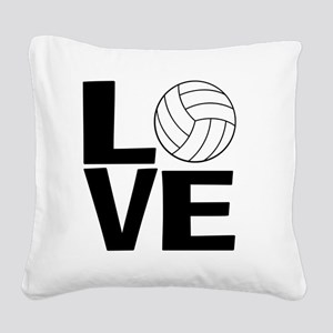 Volleyball Love Square Canvas Pillow