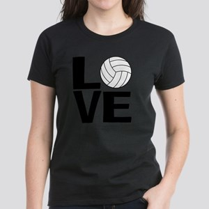 Volleyball Love Women's Dark T-Shirt