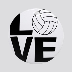 Volleyball Love Round Ornament