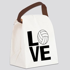 Volleyball Love Canvas Lunch Bag