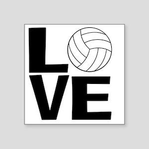 """Volleyball Love Square Sticker 3"""" x 3"""""""
