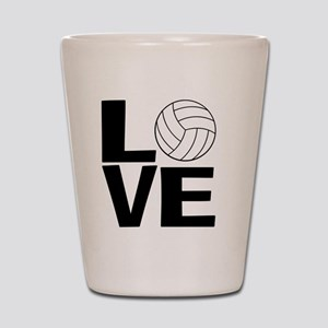 Volleyball Love Shot Glass