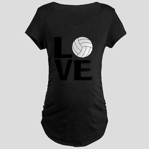 Volleyball Love Maternity Dark T-Shirt