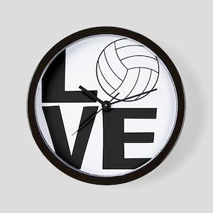 Volleyball Love Wall Clock
