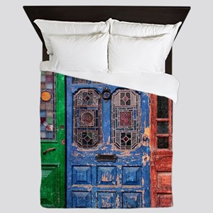 Old Doors Queen Duvet