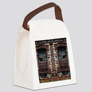 Old Windows Canvas Lunch Bag