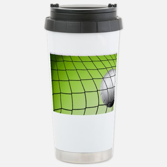 Green Volleyball  Net Stainless Steel Travel Mug