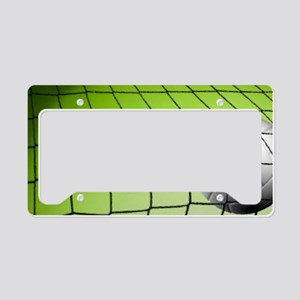 Green Volleyball  Net License Plate Holder