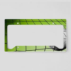 Green Volleyball  Net License Plate Holder