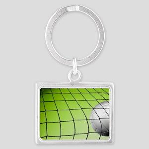 Green Volleyball  Net Landscape Keychain