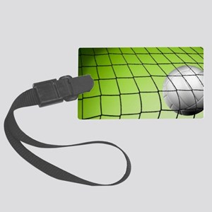 Green Volleyball  Net Large Luggage Tag