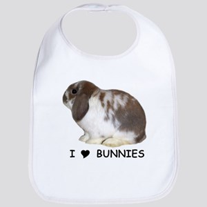 """I love bunnies 1"" Bib"