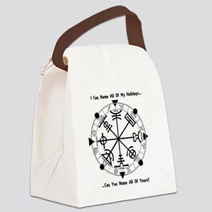 Pagan Wheel of the Year T-Shirt Canvas Lunch Bag