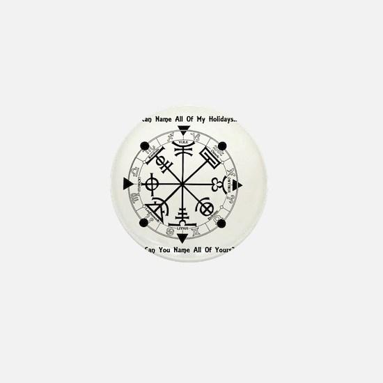 Pagan Wheel of the Year T-Shirt Mini Button