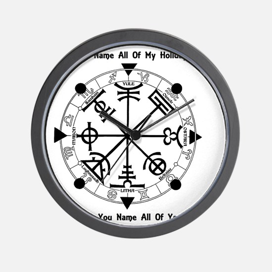 Pagan Wheel of the Year T-Shirt Wall Clock