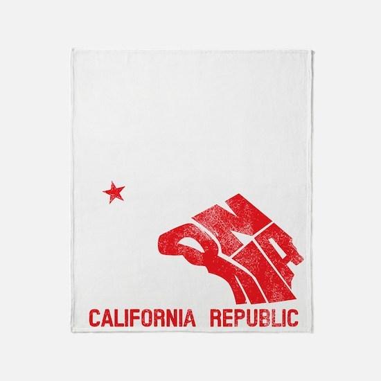 Golden State Grunge Bear Throw Blanket