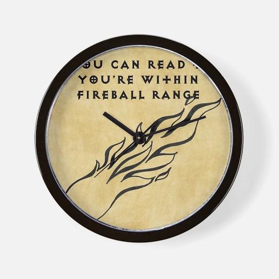 Fireball range Wall Clock
