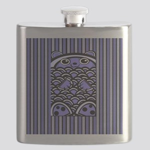 Blue Bear Striped Flask