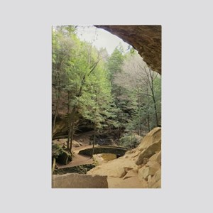 Cave View Rectangle Magnet