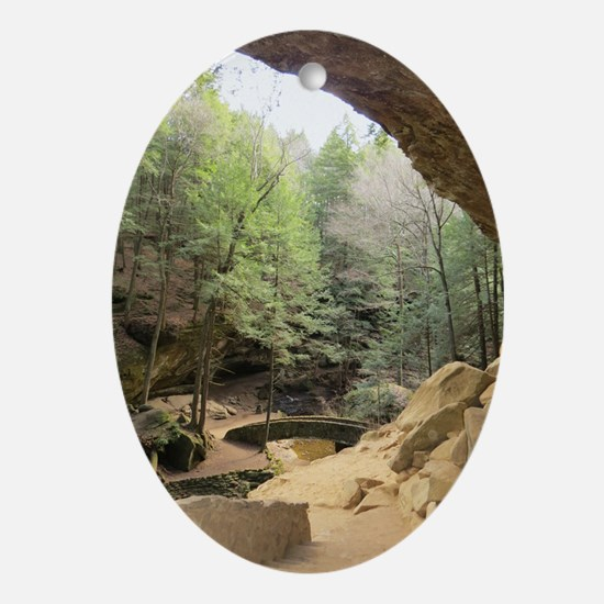 Cave View Oval Ornament
