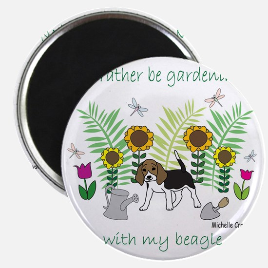 id rather be gardening with my dog.. Magnet