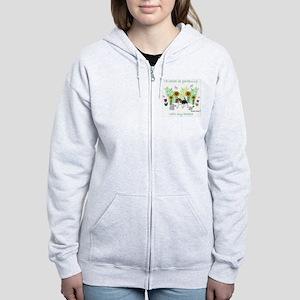 id rather be gardening with my  Women's Zip Hoodie