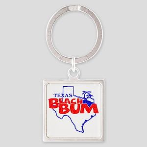 Texas Beach Bum Square Keychain