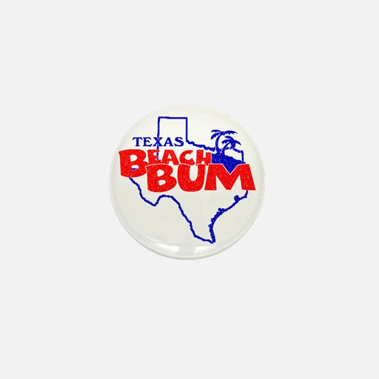 Texas Beach Bum Mini Button