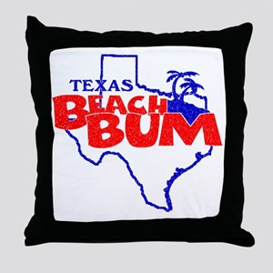 Texas Beach Bum Throw Pillow