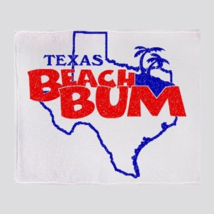 Texas Beach Bum Throw Blanket