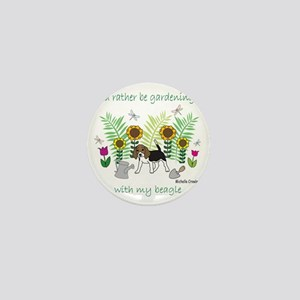 id rather be gardening with my dog.. Mini Button