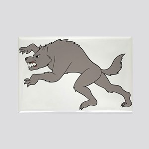 Big Bad Wolf Running Rectangle Magnet
