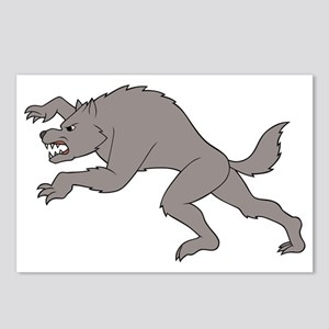 Big Bad Wolf Running Postcards (Package of 8)
