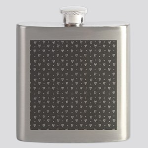 white heart background Flask
