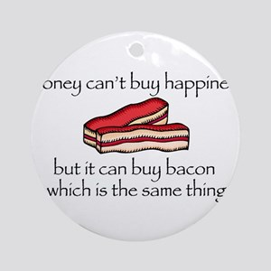 Bacon Money Ornament (Round)