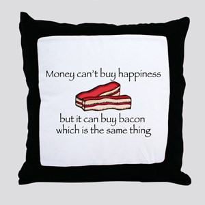 Bacon Money Throw Pillow