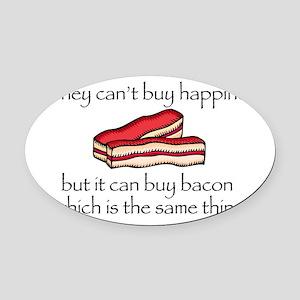 Bacon Money Oval Car Magnet